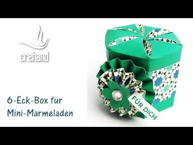 6-eckige Box für kleine Geschenke mit crehand und Stampin' Up!