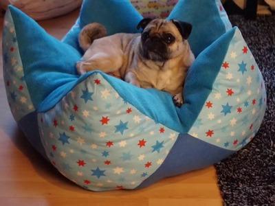 DIY Kronenkissen.Sternenkissen - Körbchen für Hunde