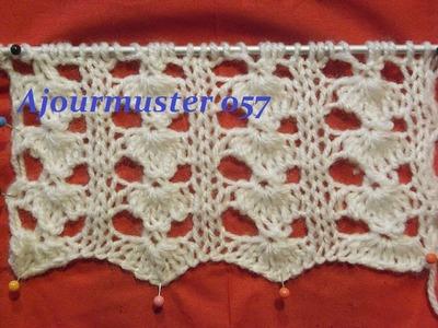 Ajourmuster 057*Stricken lernen*Muster für Pullover*Mütze*Kreativ Tutorial Handarbeit