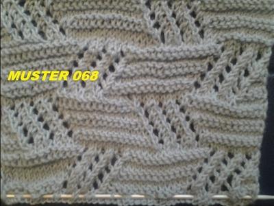 Ajourmuster  068*Stricken lernen* Muster für Pullover Strickjacke Mütze*Tutorial Handarbeit