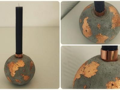 Betonkugel Kerzenhalter * DIY * Concrete Candle Holder [eng sub]