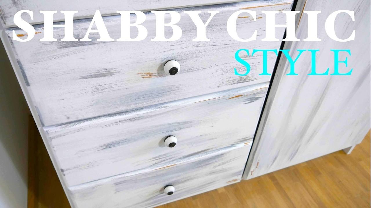 diy anleitung schrank im shabby shic style streichen schritt f r schritt. Black Bedroom Furniture Sets. Home Design Ideas