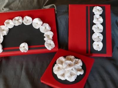 Geschenke dekorieren mit Blüten aus Wattepads – einfach