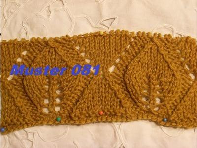 Muster 081**Stricken lernen* Muster für Pullover Strickjacke Mütze Stirnband