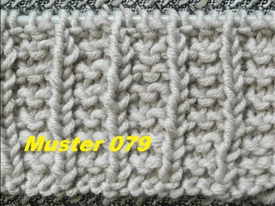 Polniches Bündchenmuster 079*Bündchen**Stricken lernen* Muster für Pullover Strickjacke Mütze