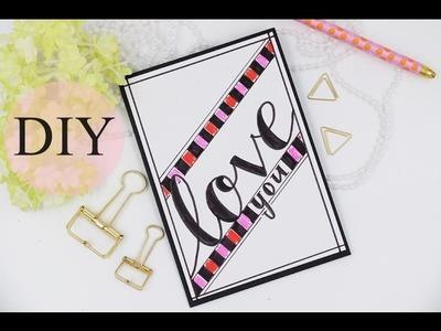 Valentinstagskarte selber basteln -  DIY last minute Valentine's Day Card