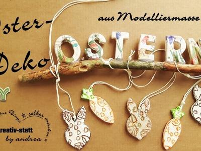 DIY Deko Ostern - aus Modelliermasse Relief Serviettentechnik. Wie man