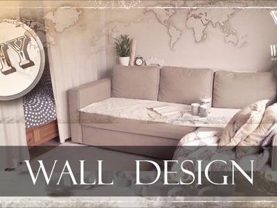 DIY : WALL DESIGN | WORLD MAP | STRUKTURPASTE