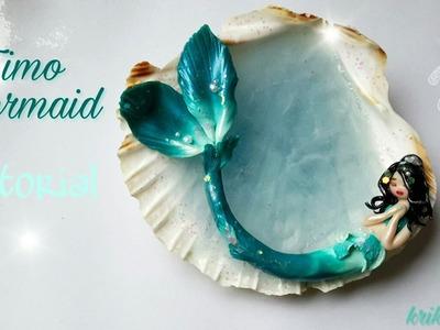 Fimo Mermaid Tutorial *Krikreativ*  magische Meerjungfrau aus Fimo