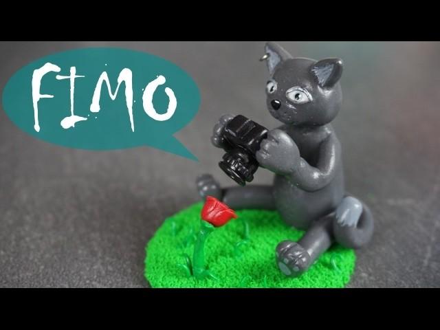 Foto Katze ~ Fimo. Polymerclay. Tutorial
