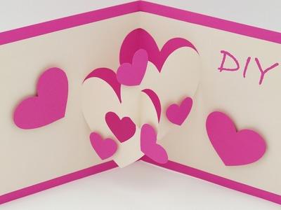 Pop-Up Karten basteln mit Papier - Herz Karte selber machen - DIY