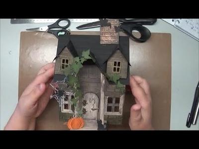 Tutorial Anleitung Halloween Haus Dekoration  Herbst Teil I