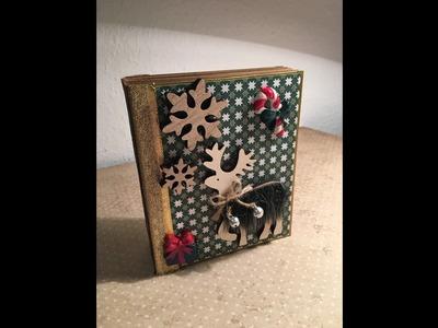 *Tutorial* Weihnachtsminialbum. Scrapbooking DIY
