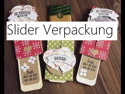 Ziehverpackung mit Slider Element für Merci Tafel, DIY mit Stampin' Up!