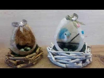 DIY Deko Ei aus Strohseide