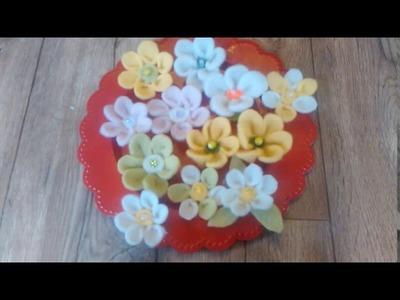 DIY Filzblüten aus Deko Filzband