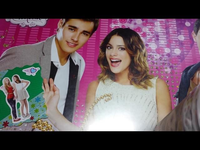 Soy Luna und Violetta Karte basteln