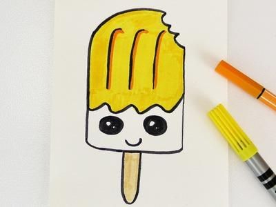 KAWAII DIY EIS AM STIEL zeichnen | Gutschein und Einladung zum Eis essen