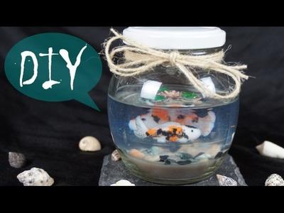 Koi Fisch Teich im Glas ~ Fimo und Resin ~ DIY. Tutorial