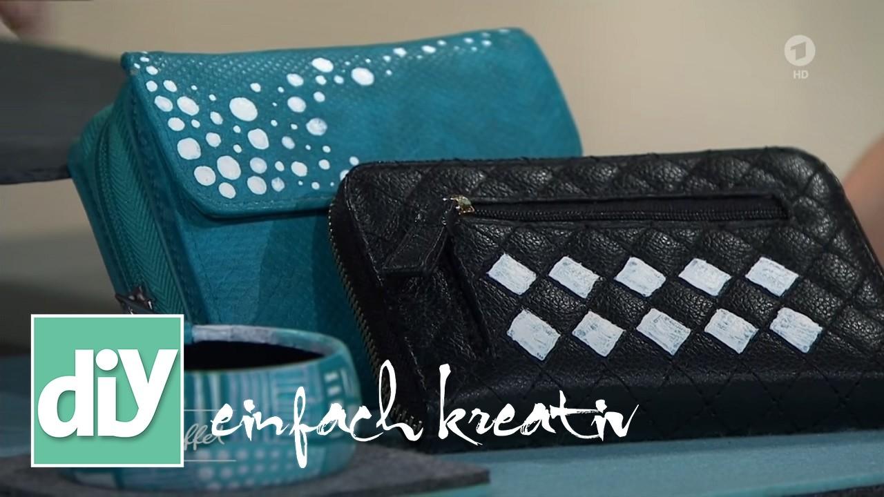 lederartikel mit farbe auffrischen diy einfach kreativ. Black Bedroom Furniture Sets. Home Design Ideas