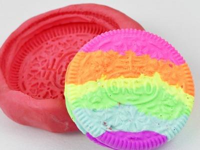 Regenbogen Oreo Kekse aus Silk Clay | Süße DIY Idee | Schlüsselanhänger oder Magnet