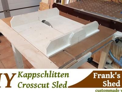 ☡ Schiebeschlitten für Tischkreissäge selber bauen. DIY Crosscut Sled Easy Build
