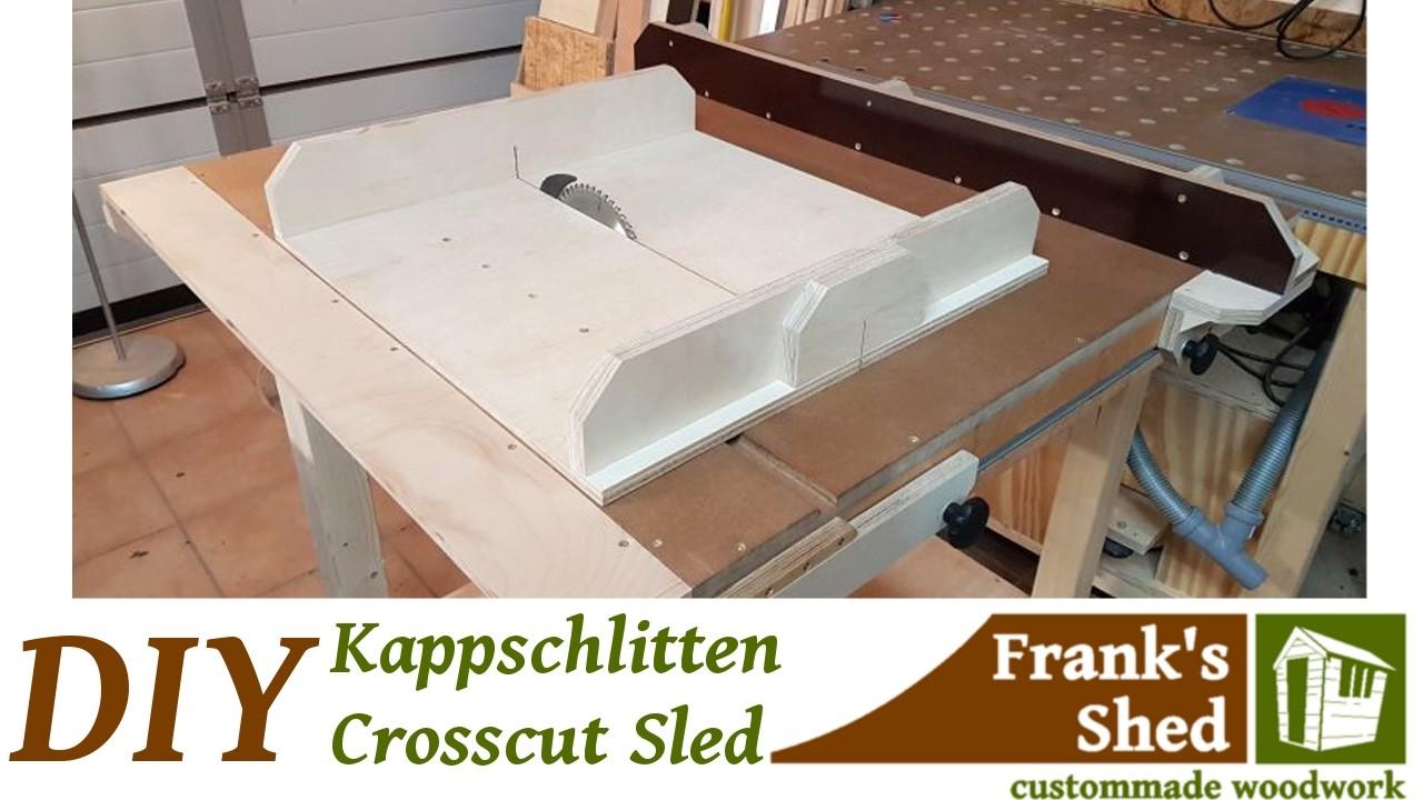 schiebeschlitten f r tischkreiss ge selber bauen diy crosscut sled easy build. Black Bedroom Furniture Sets. Home Design Ideas