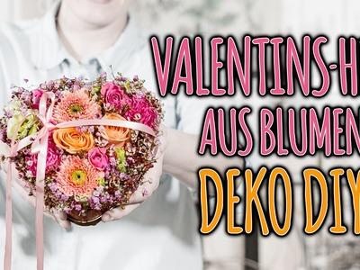 VALENTINS-HERZ AUS BLUMEN - DEKO DIY