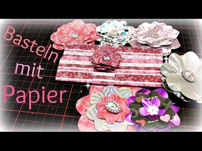 Basteln mit Papier | Papierblumen basteln | DIY Inspiration Ideen zum selbermachen | Anleitung