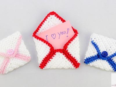 DIY: Briefumschalg  häkeln  | Valentinstag | Geburtstag | Geschenk