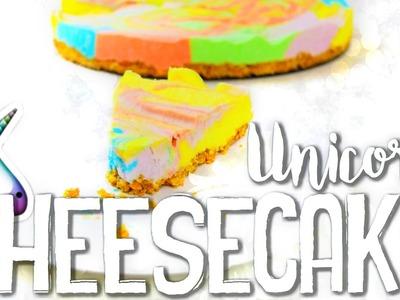 DIY Unicorn Cheesecake - schnell & einfach OHNE BACKEN!???? | Vanessa Nicole