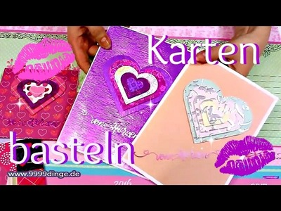 Karten basteln Ideen | Basteln mit Papier | DIY Anleitung Valentinstagskarte