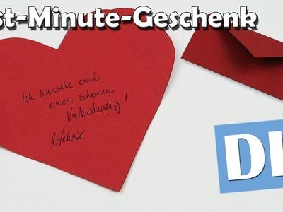 Briefumschlag aus Herz - DIY