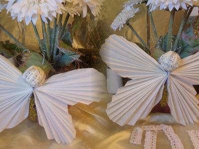 DIY:Bastel-Idee, Schmetterling aus Butterbrotpapier + Buchseiten SELBER MACHEN; by DIY kekaplauderei