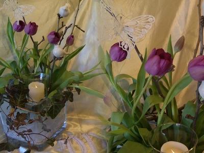 DIY: BLUMEN-Werkstatt, Edle Frühligs-DEKO mit Tulpen SELBER MACHEN, How-to,Upsycling
