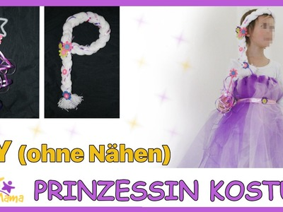 DIY Prinzessinnen-Kostüm OHNE NÄHEN - Faschingskostüm. Karneval