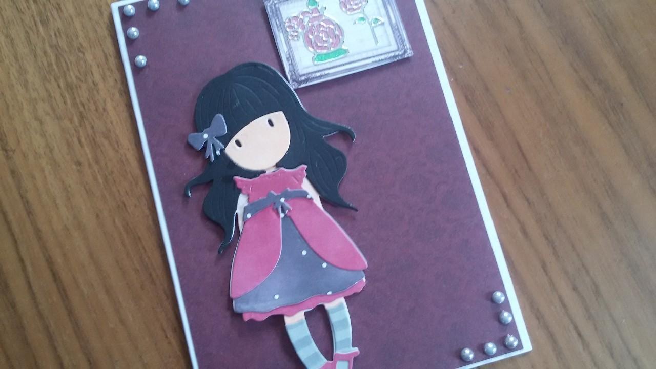 Gorjuss Week Card 1   Gorjuss Die   DIY   Karten basteln   Basteln mit Papier   craft with Paper