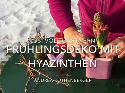 DIY-Tipp: Frühlingsdeko mit Hyazinthen