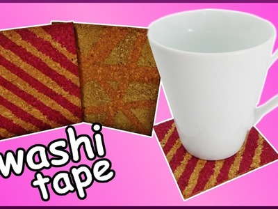 DIY washi tape challenge | Kork Untersetzer dekorieren | cork trivet | decoration