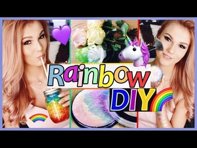 Die BESTEN REGENBOGEN DIY´s I UNICORN DIY I HIGHLIGHTER, ROSEN, TEXTMARKER. .