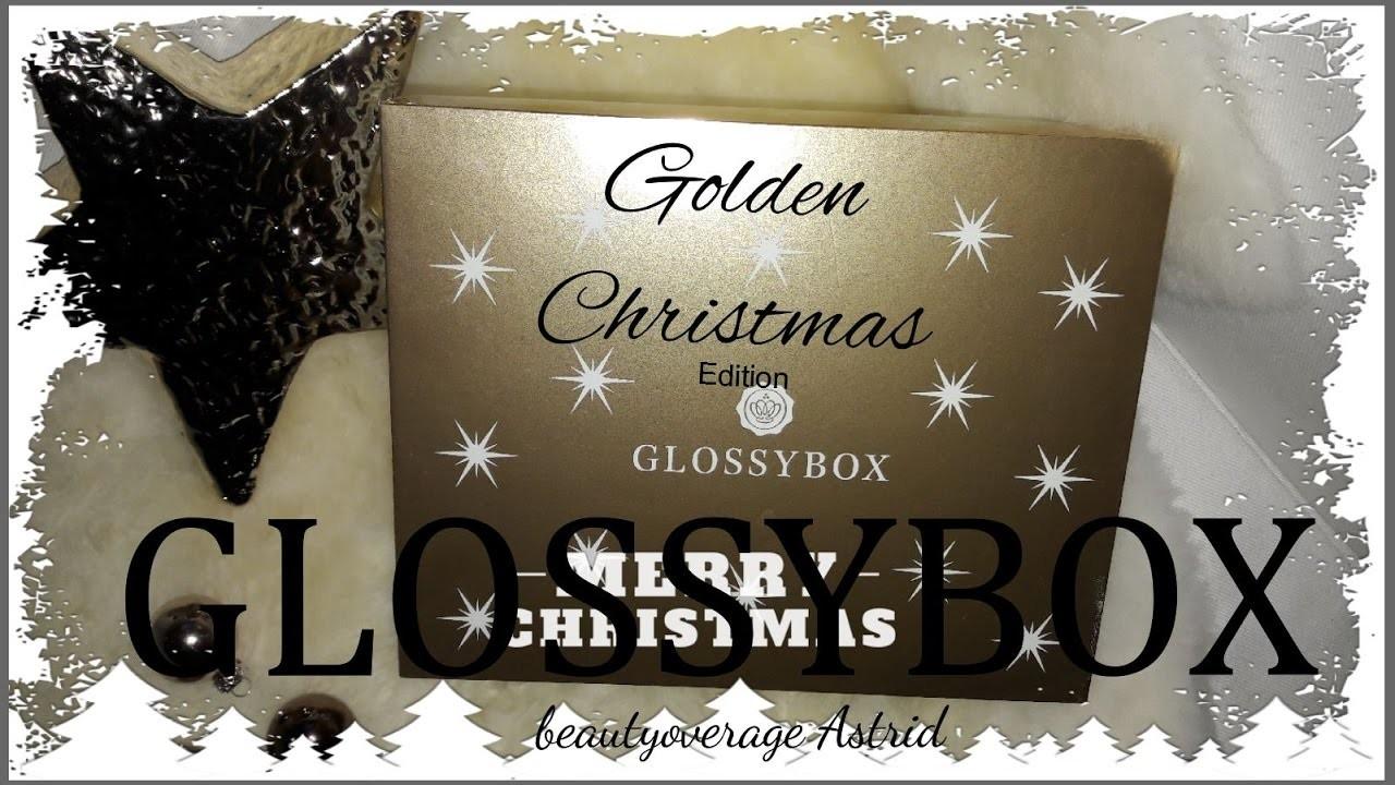 Glossybox Dezember 2016 | Golden Christmas Edition | beautyoverage Astrid