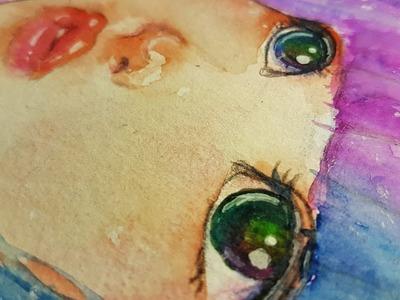 Speedpaint Watercolour - Rainbow Eyes