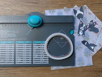 +++Watch me Craft+++Mini Goddiebag mit dem Envelope Punch Board und Snapverschluss+++