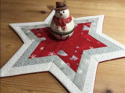 Einen Stern nähen mit Vlieseline Rasterquick Dreieck