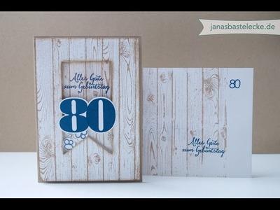 Kreativer Montag 72 - Schüttelkarte für einen Mann zum 80. Geburtstag - inklusive Outtakes