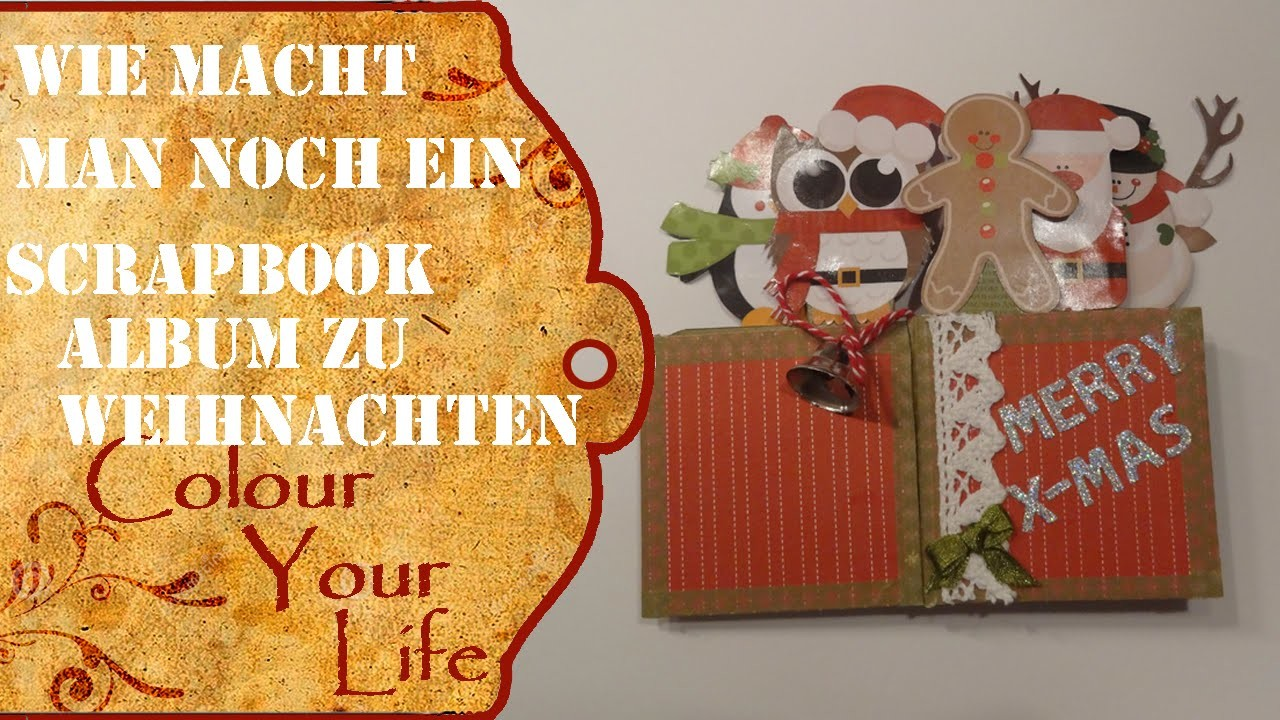 mini scrapbook album f r weihnachten last minute 2. Black Bedroom Furniture Sets. Home Design Ideas