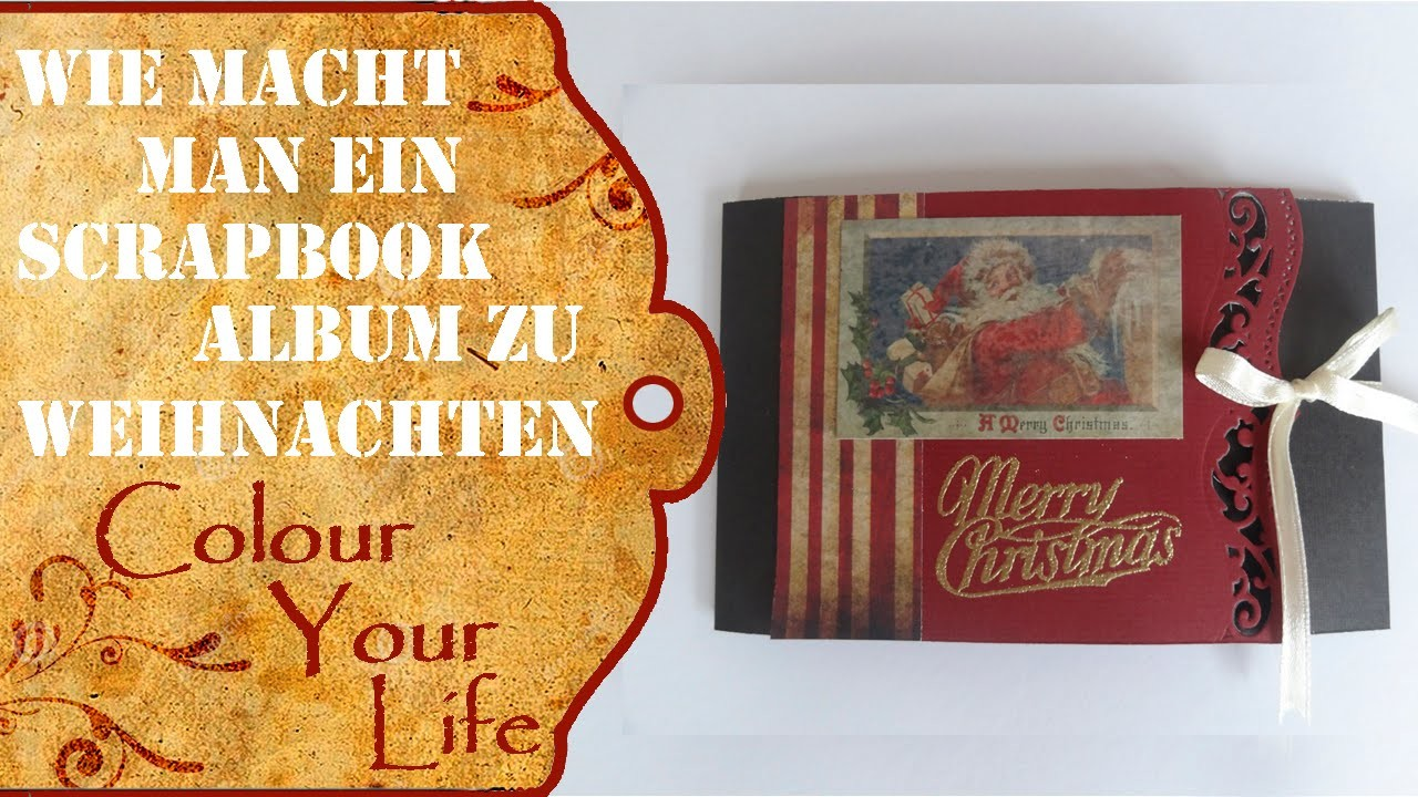 wie macht man ein mini scrapbook album f r weihnachten last minute. Black Bedroom Furniture Sets. Home Design Ideas