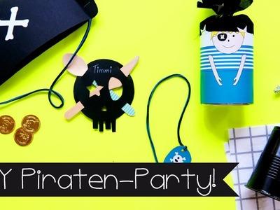 DIY | BASTELN MIT KINDERN I PIRATEN-PARTY | PARTYDEKO | PIRATENKOSTÜM