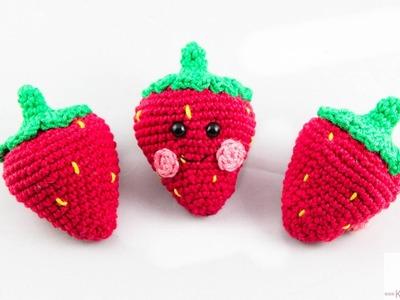 DIY: Erdbeeren Häkeln Amigurumi | Anleitung | Anfänger