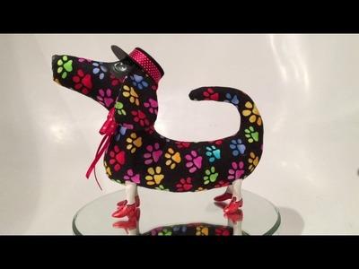 Handmade Dachshund Sausage Dog on porcelain legs. Crismas gift. Dackel, Teckel, Perro tejonero